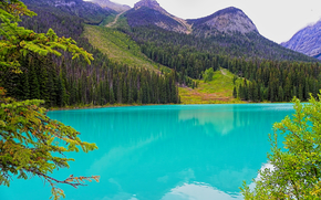 Пейзажи: Emerald Lake, Rocky Mountains, Canada