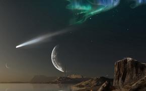 Космос: космос, планета, 3d