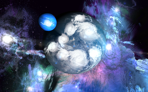 Космос: космос, 3d, art