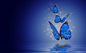 Рендеринг: butterflies, бабочки, 3d