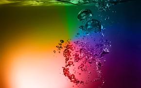 Рендеринг: rainbow water, вода, жидкость, разноцветная вода