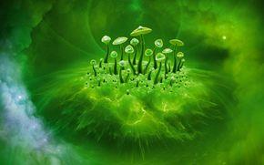 Абстракция: гриб сознания, грибочки, 3d, art, красота, абстракция