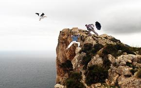 Ситуации: мужчины, скала, обрыв, пропасть