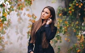 Настроения: Tiziana Di Garbo, модель, осень, ветки