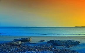 Пейзажи: закат, море, берег, пейзаж
