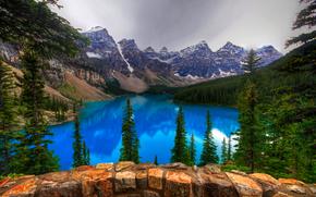 Пейзажи: Moraine Lake, Banff National Park, озеро, горы, деревья, пейзаж