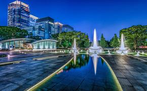 Город: Wadakura Fountain Park, Tokyo, Japan, Парк фонтанов Вадакура, Япония, Токио, фонтаны