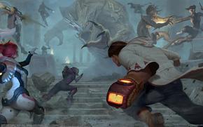 Обои Фантастика: Iqnatius Budi, монстры, чудовища, люди, битва
