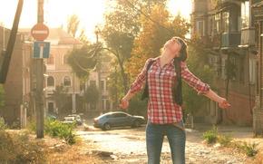 Настроения: Девушка, Солнце, Осень