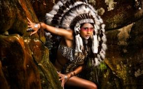 Стиль: индианка, скво, раскрас, роуч, перья