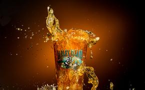 Макро: Barley Island Beer, пиво, всплеск, стакан, макро