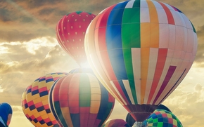 Авиация: монгольфьеры, аэростаты, воздушные шары, небо