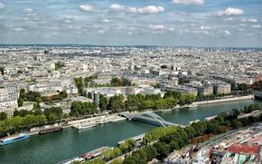 Город: Paris, France, вид с верху