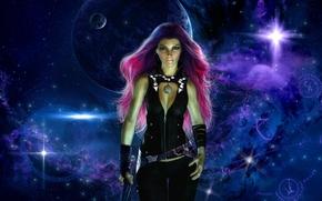 Фантастика: Гамора, Стражи Галактики, art