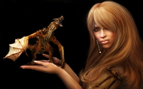 Фантастика: девушка, дракон, фантастика