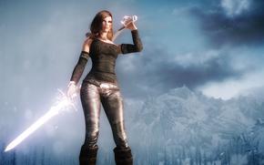 Обои Фантастика: девушка, воин, 3d, art