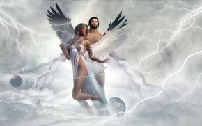 Фантастика: ангел, 3d, art