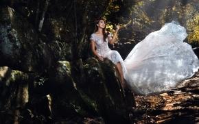 Настроения: азиатка, свадебное платье, платье, настроение