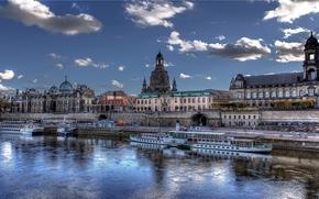 Город: Дрезден, Германия, река Эльба