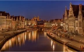 Гент, Gent, город во Фландрии, в Бельгии, Belgium обои, фото