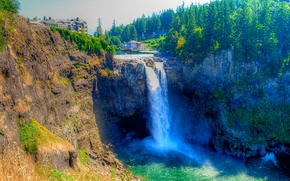 Пейзажи: Водопад Сноквалми, Snoqualmie Falls, США, штат Вашингтон