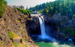 Водопад Сноквалми, Snoqualmie Falls, США, штат Вашингтон обои, фото