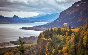 Пейзажи: Виста Дом, Краун Пойнт, в ущелье реки Колумбия, Орегон