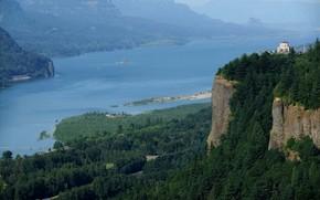 Виста Дом, Краун Пойнт, в ущелье реки Колумбия, Орегон обои, фото