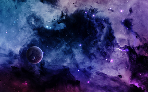 космос, 3d, art обои, фото