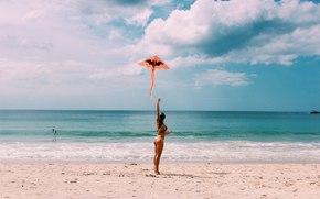 Природа: природа, пляж, девушка