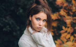Настроения: лицо, взгляд, настроение, свитер, портрет, осень