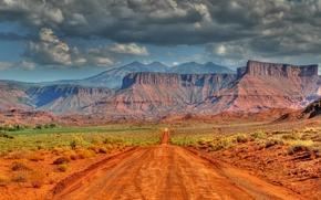 Пейзажи: горы, скалы, дорога, Utah, пейзаж
