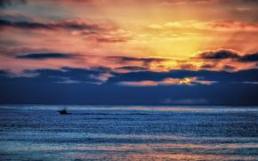 закат, море, пейзаж обои, фото