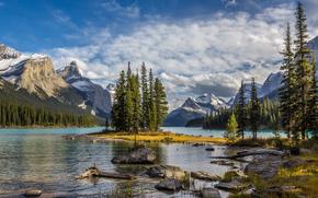 ���� �������: Maligne Lake, Jasper National Park, �����, �������, ������