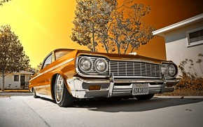 Машины: 1964, Chevrolet, Impala, Convertible, Lowrider, шевроле, импала