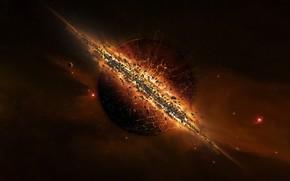 Космос: солнце, взрыв