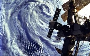 Космос: небо, мкс, спутник