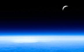 Космос: небо, атмосфера, луна