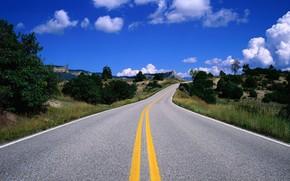 дорога, небо, хмари, 712152 «