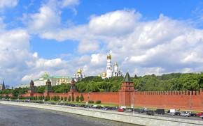панорама, москва, кремль, дорога, река обои, фото