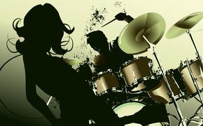 музыка, арт, вектор, девушка обои, фото