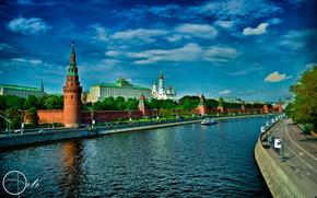 москва,  столица,  река,  кремль обои, фото