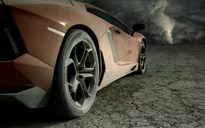 Lamborghini,  пустыня,  небо, автомобили, машины, авто обои, фото