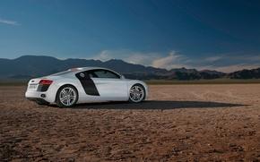 audi,  ауди,  r8,  пустыня,  горы, автомобили, машины, авто обои, фото