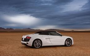 машина, небо, пустыня, Audi обои, фото