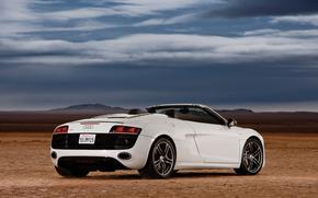 машина, небо, облака, пустыня, Audi обои, фото