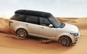 Land Rover, Range Rover 2013, песок, пустыня, автомобили, машины, авто обои, фото