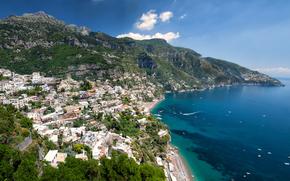 Италия, Позитано, Амалфи, море обои, фото