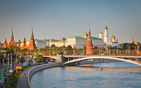 Москва, Кремль, Москва-река, мост, набережная обои, фото