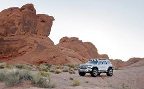 Mercedes-Benz, Ener-G-Force, пустыня, закат, автомобили, машины, авто обои, фото